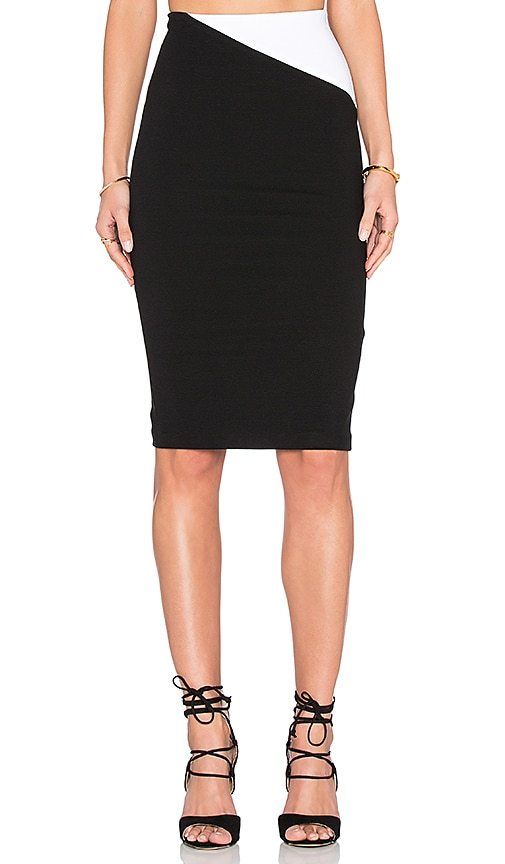 Alice + Olivia Karissa Skirt in Black & White