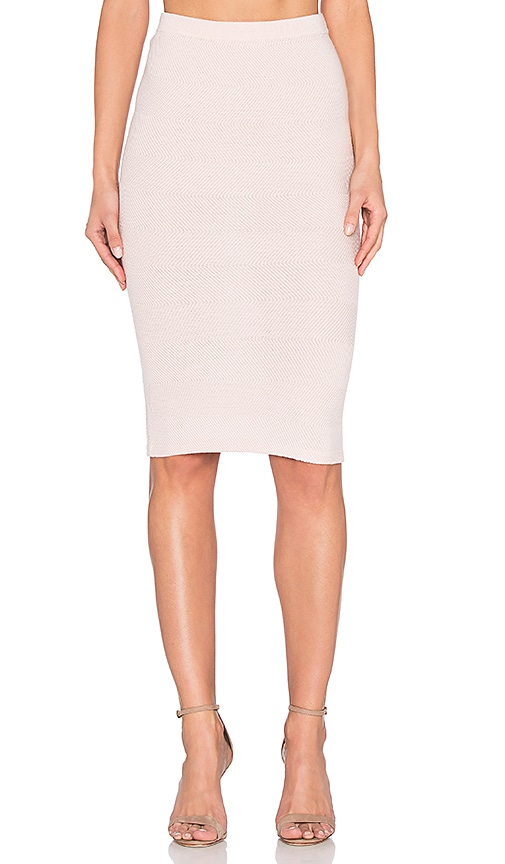 Alice + Olivia Morena Skirt in Blush
