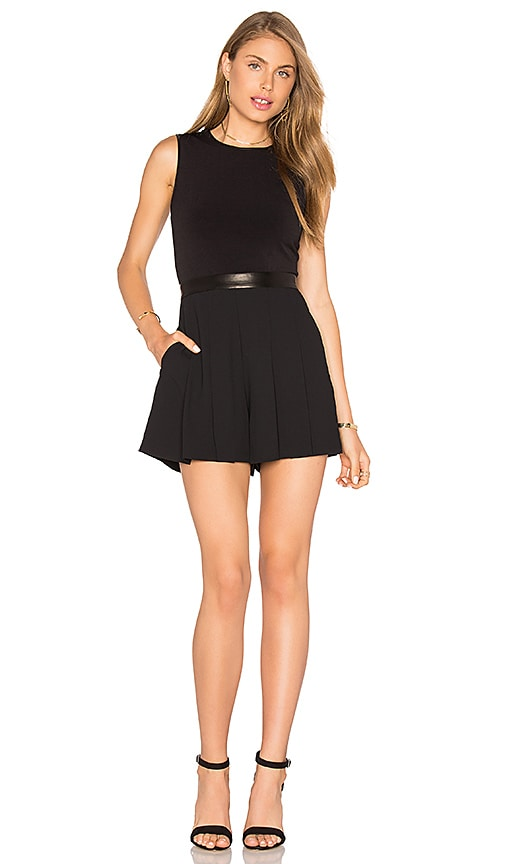 Alice + Olivia Donna Romper in Black