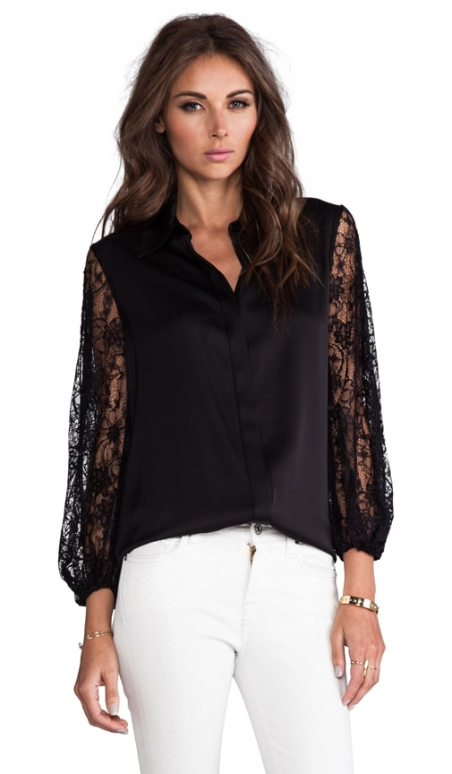 Serena Slit Sleeve Hidden Placket Blouse