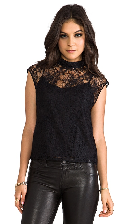 Hanna Mock Neck Boxy Top