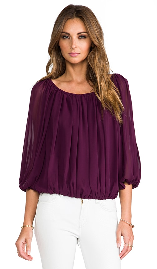 Braiden Boxy Gathered Top