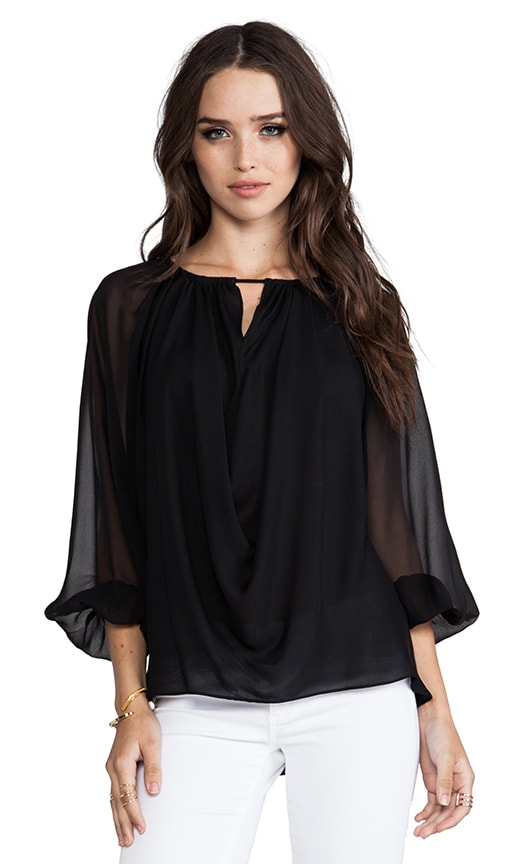 Mariana Oversized Blouson Sleeved Draped Top