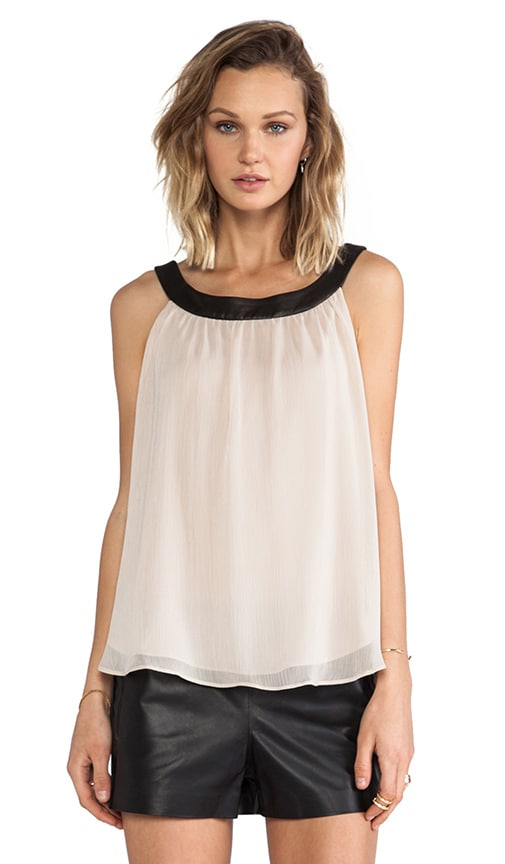 Antonia Leather Neckband Tank