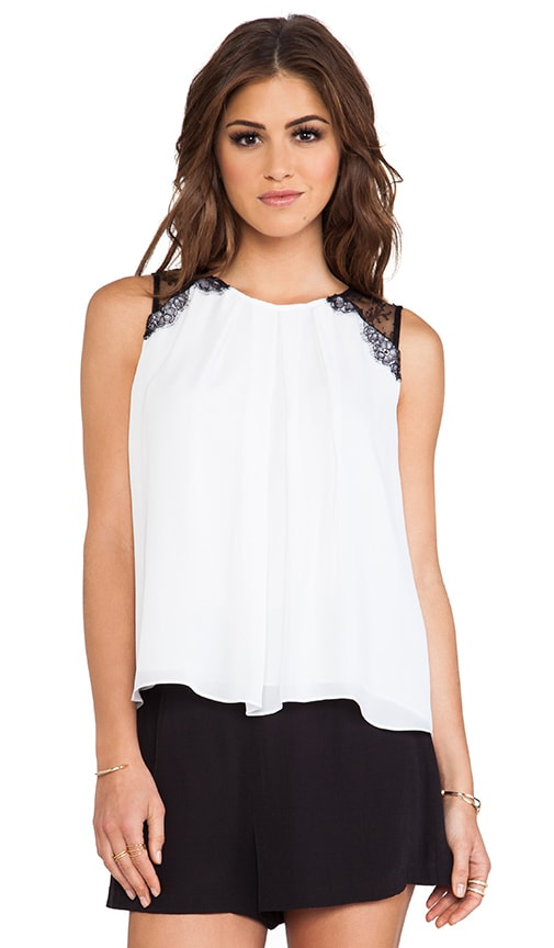 Lorretta Lace Combo Sleeveless Top