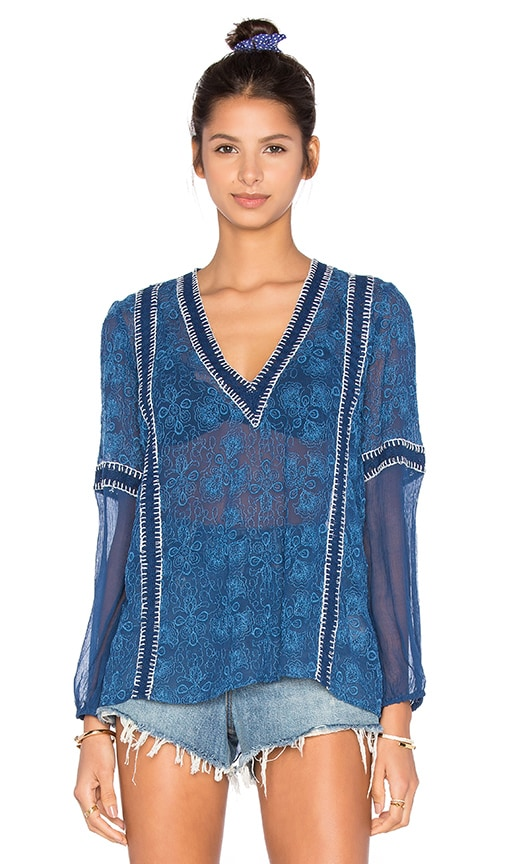 Alice + Olivia Natalya Top in Blue