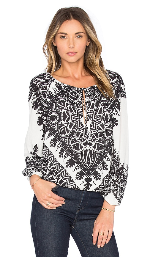 Alice + Olivia Naya Top in Black & White