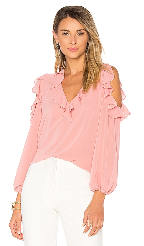 Alice + Olivia Gia Blouse in Pink