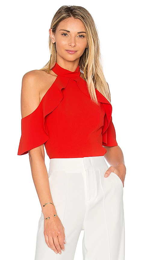 Alice + Olivia Cabot Top in Red