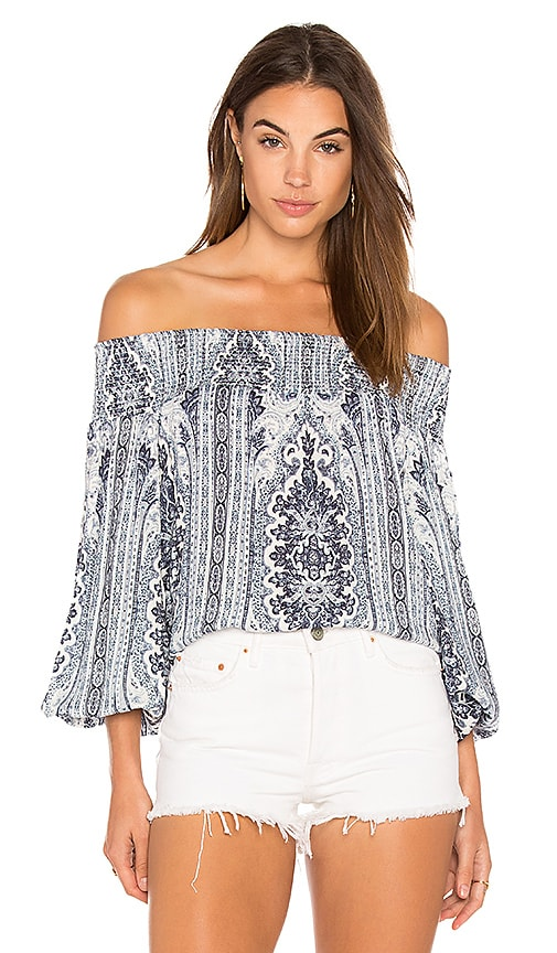 Alice + Olivia Viola Top in Blue