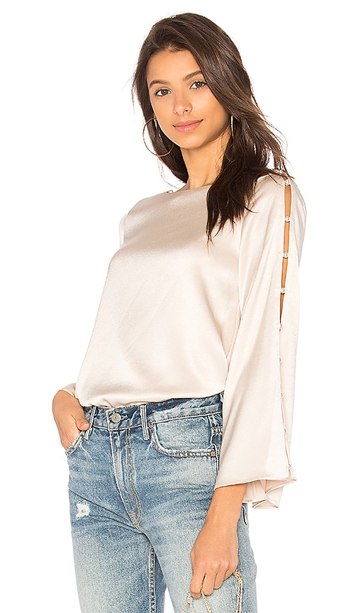 Alice + Olivia Genia Top in Ivory