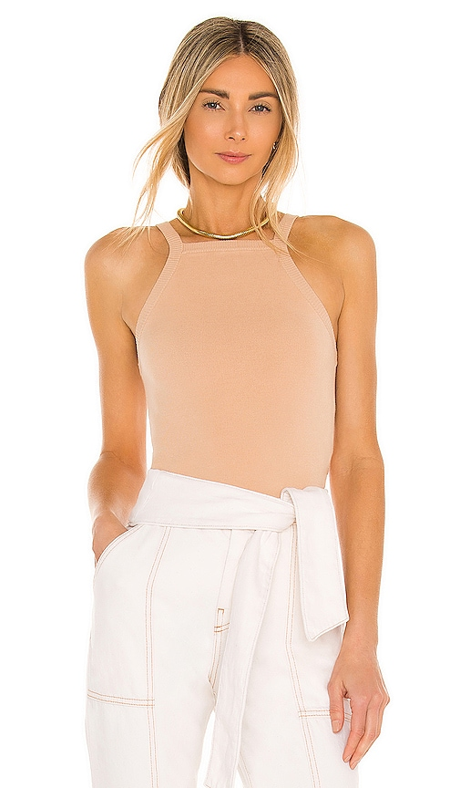 Alice And Olivia CABOT STRAIGHT NECK TANK TOP
