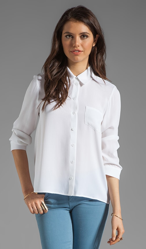 Desma Button Down Swing Blouse