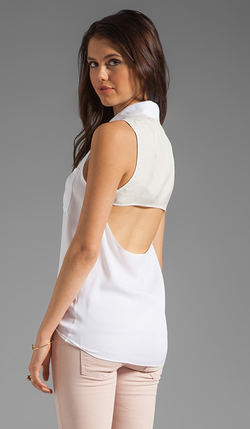 Blayne Sleeveless Cut Back Top