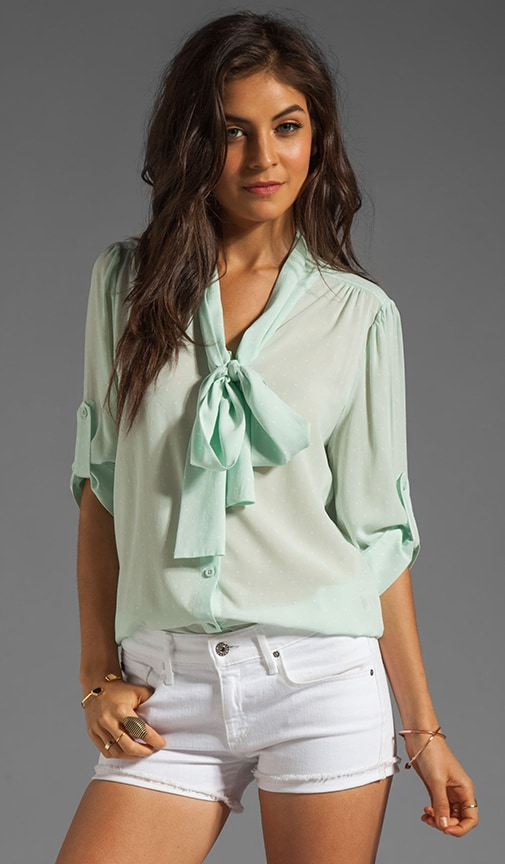 Arie Tied Collar Blouse