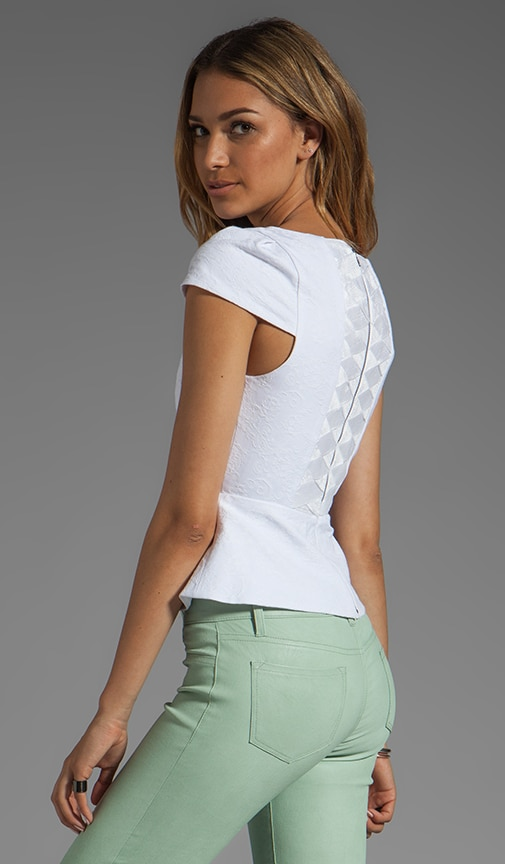 Roz Short Sleeve Boatneck Peplum Top