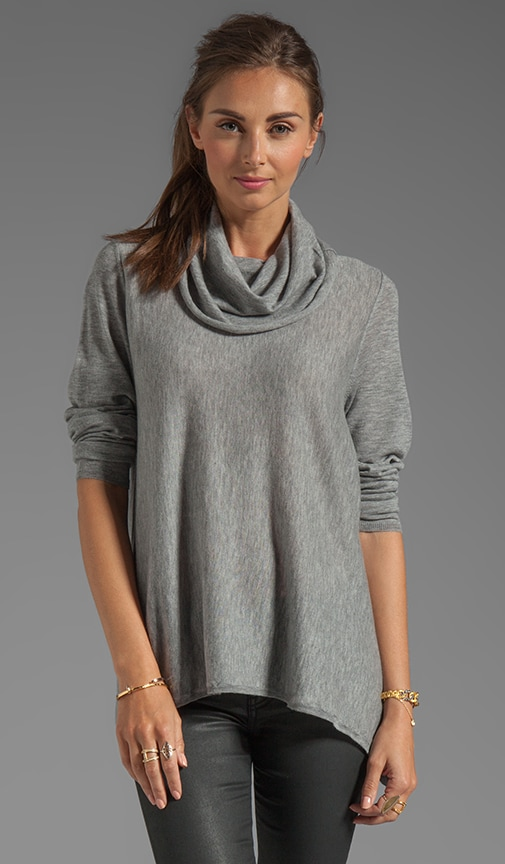 Draped Cowl Neck Top