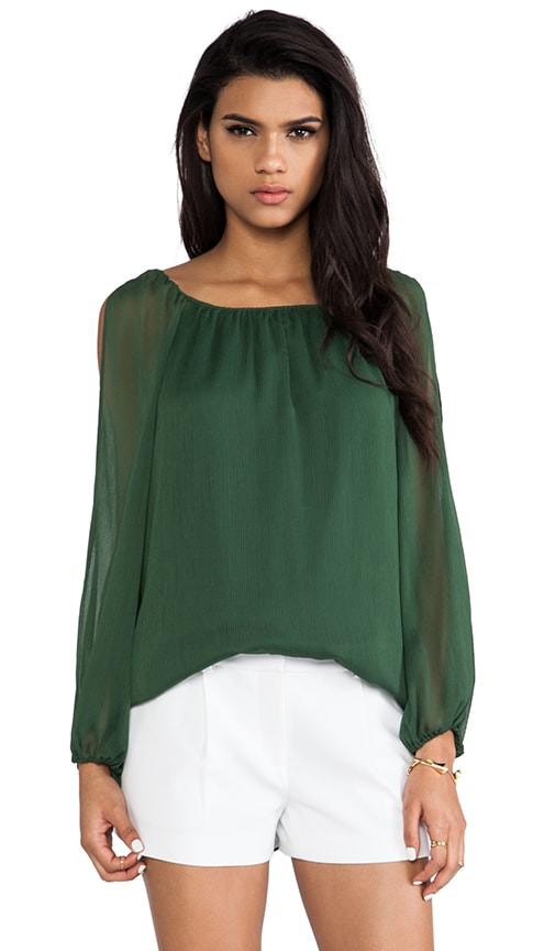 Merrie A-Line Cutout Peasant Top