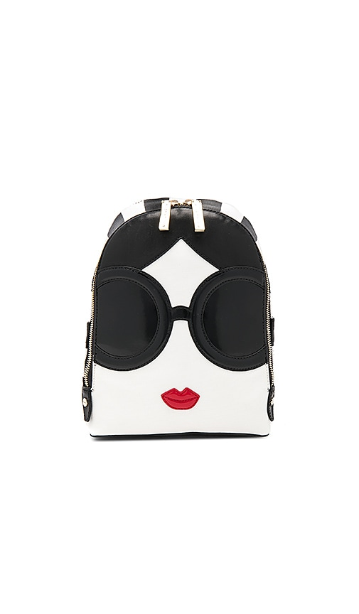 Alice + Olivia Staceface Backpack in Black & White