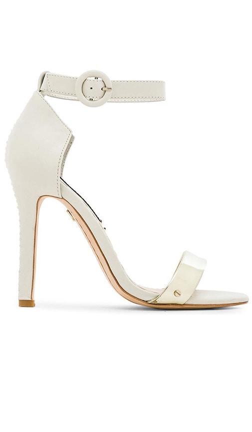 Alice + Olivia Gala Vachetta Heel in White & Pale Gold