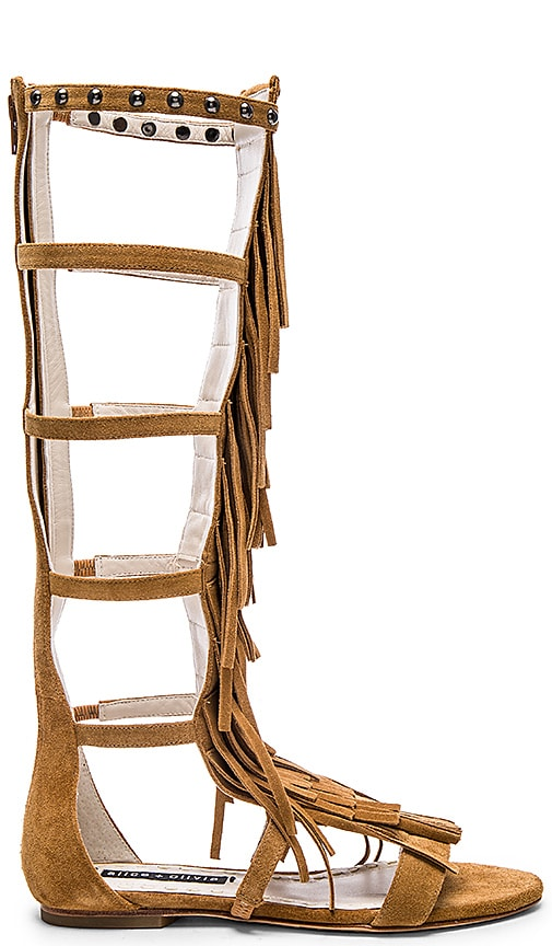 Alice + Olivia Paula Sandal in Toffee Crosta