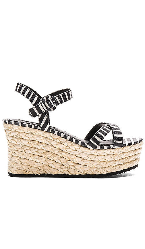 Alice + Olivia Rachel Wedge in Black & White