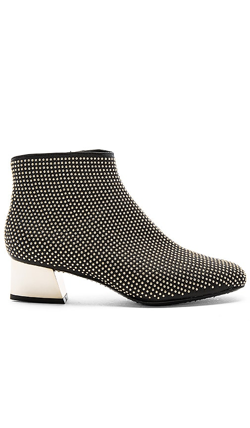 Alice + Olivia Paxton Gold Studded Bootie in Black