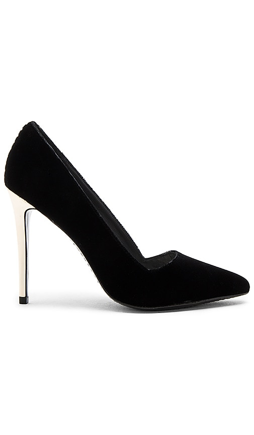 Alice + Olivia Dina Velvet Heel in Black