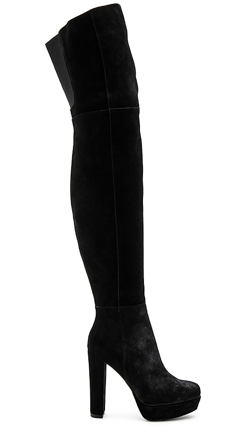 Alice + Olivia Halle Platform Over the Knee Boot in Black