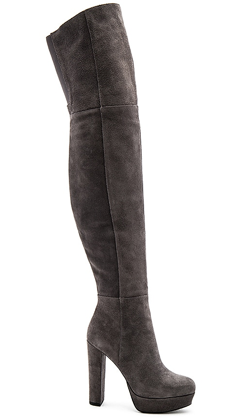 Alice + Olivia Halle Platform Over the Knee Boot in Charcoal