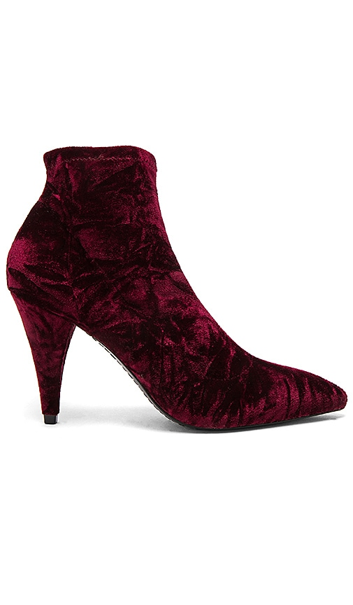Alice + Olivia Camryn Bootie in Burgundy