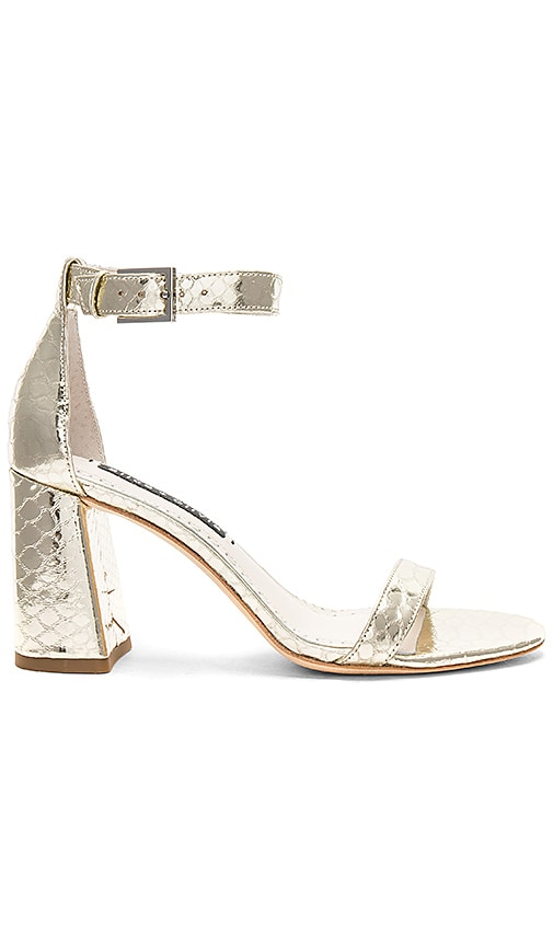 Alice + Olivia Lillian Sandal in Metallic Gold