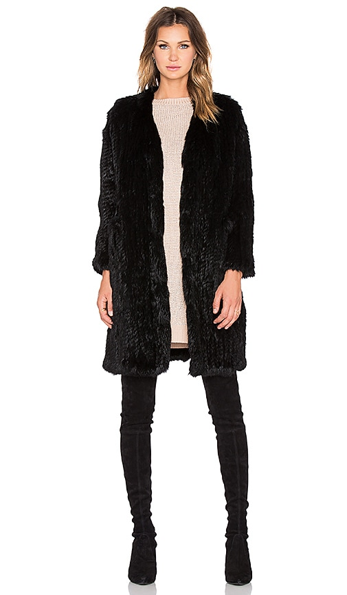 Rabbit Fur Long Coat