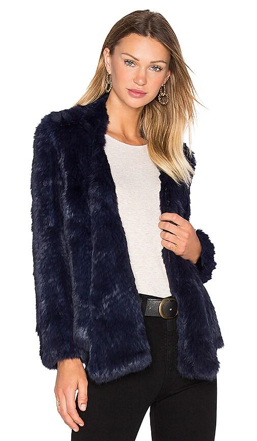 Lapel Rabbit Fur Jacket