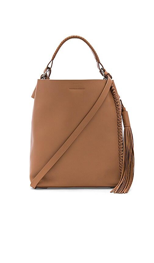 ALLSAINTS Pearl Mini Hobo Bag in Tan