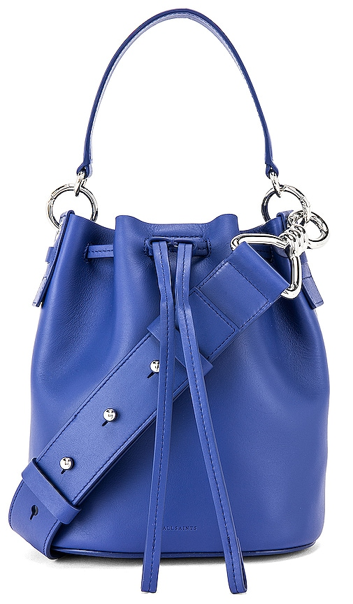 AllSaints Captain SM Cobalt Blue Bucket Bag
