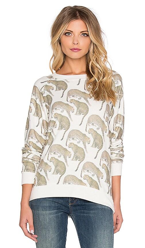 All Things Fabulous Leopard Cozy Sweatshirt in Stone