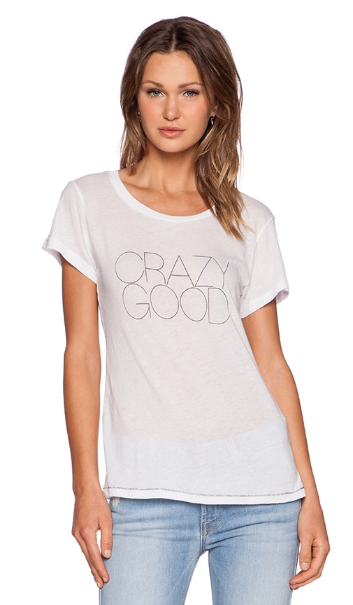 All Things Fabulous Crazy Good Tee in White