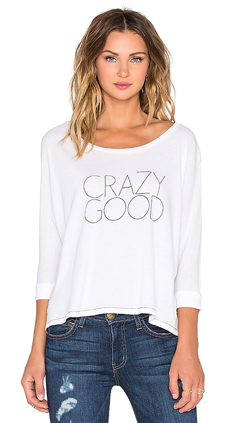 All Things Fabulous Crazy Good Batwing Tee in White