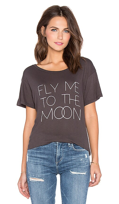 All Things Fabulous Fly Me To The Moon Tee in Charcoal