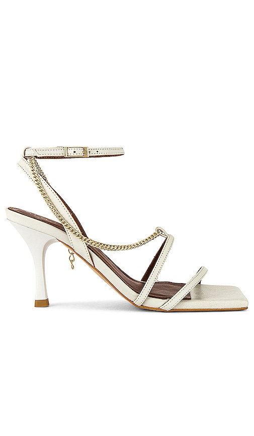Alohas Straps Chain Heel In Off White