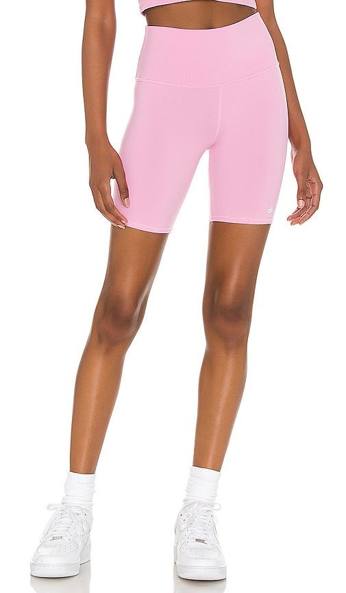 Alo Yoga High-waist Active Biker Shorts In Parisian Pink