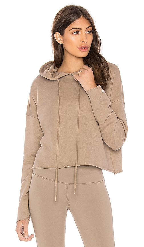 alo Box Hoodie in Taupe