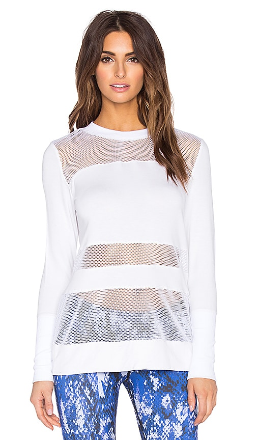 alo Plank Long Sleeve Top in White