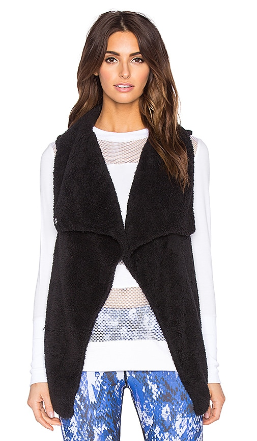 alo Cozy Up Vest in Black