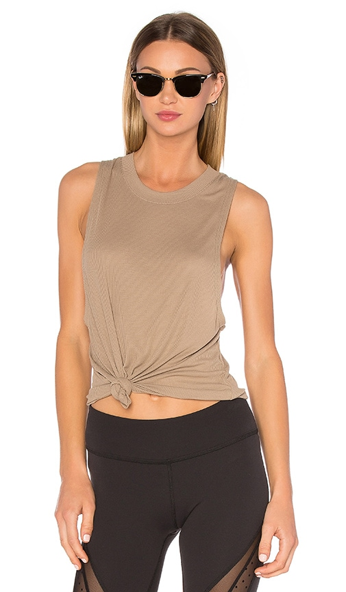 alo Heat Wave Tank in Olive