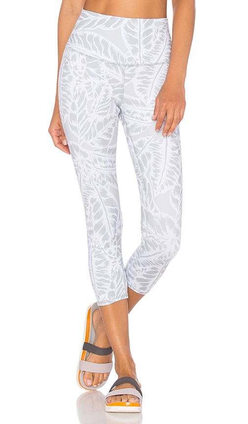 alo High Waist Airbrush Capri in Gray