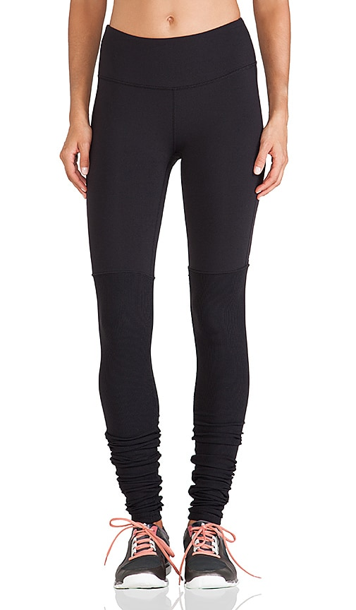 alo Goddess Ribbed Legging in Black