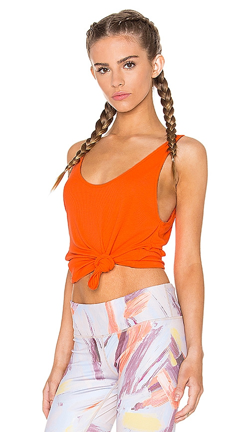 alo Sculpt Tank in Orange