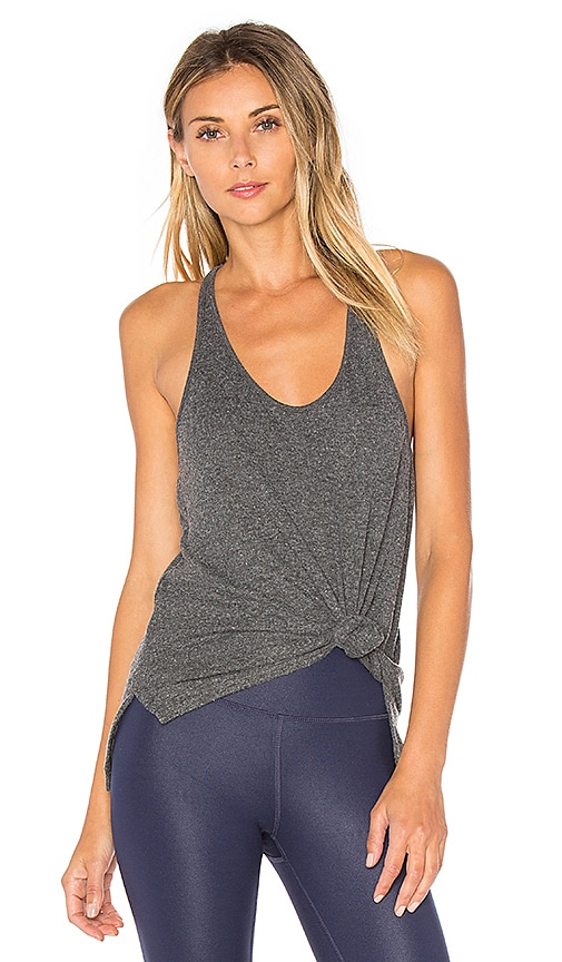 alo Cozy Tank in Charcoal